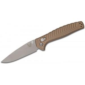 "Benchmade 781 Anthem Folding Knife 3.5"" Satin CPM-20CV Blade, Bronze Chevron Integral Titanium Handles on Sale"