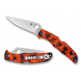 Spyderco Endura 4 Zome Orange HAP40/SUS410 - Combination Edge/Plain Edge on Sale