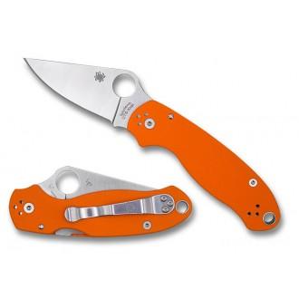 Spyderco Para 3 Orange CTS XHP Plain Edge Exclusive - Combination Edge/Plain Edge on Sale