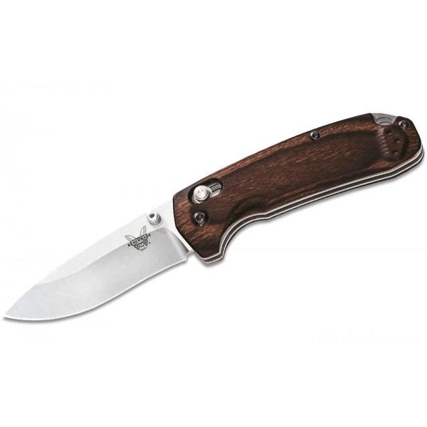 """Benchmade Hunt 15031-2 North Fork Folding Knife 2.97"""" S30V Blade, Stabilized Wood Handles on Sale"""