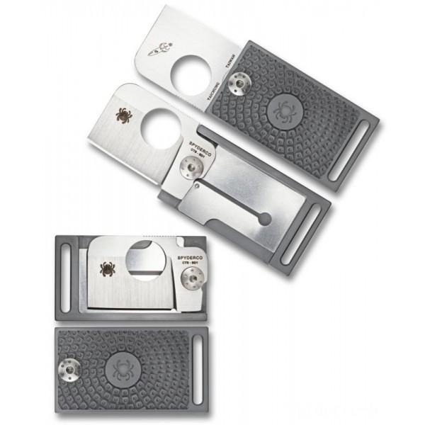 Spyderco Squarehead Lightweight Gray - Combination EdgeGray/Plain Edge on Sale